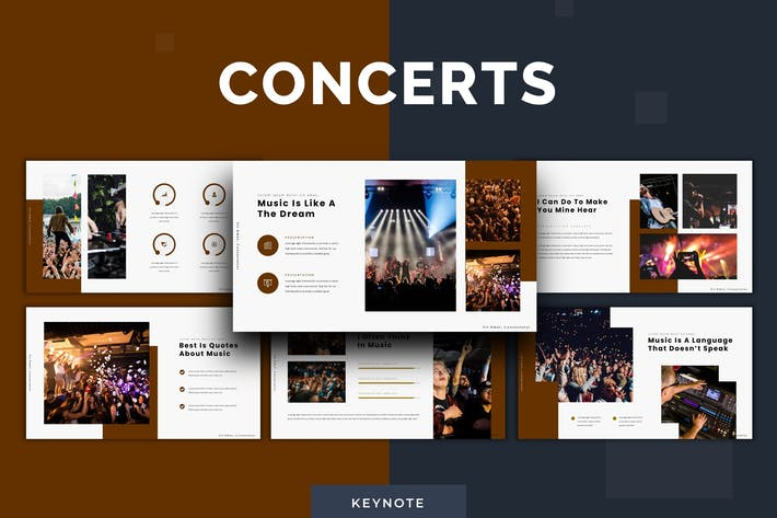 Концерты - Шаблон Keynote