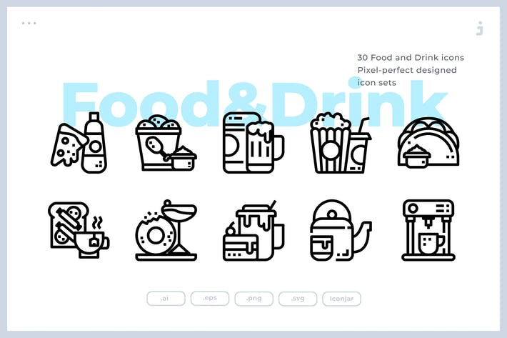 Thumbnail for 30 Food and Drink Icons