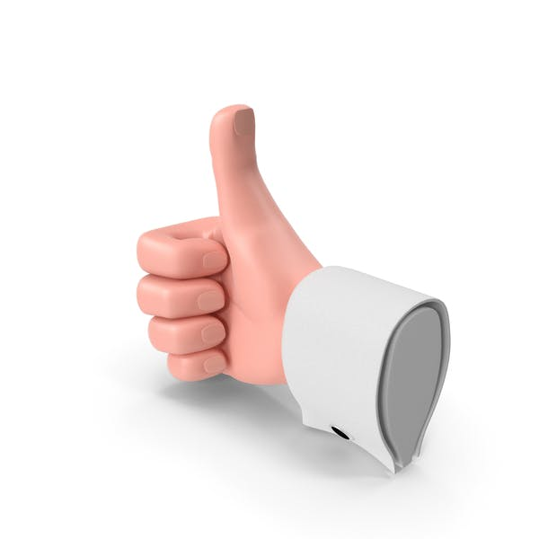 Мультфильм Человек Рука Большие пальцы вверх жест