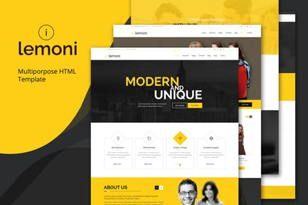 Lemoni - Mehrzweck-HTML5-Vorlage