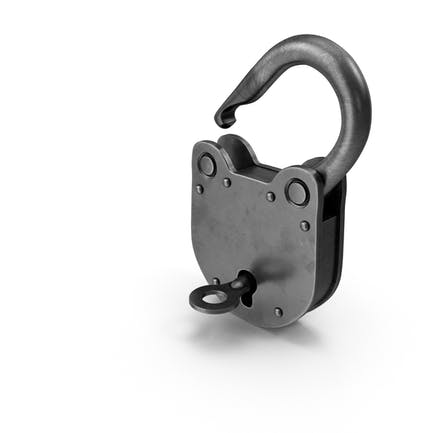 Vorhängeschloss mit Schlüssel offen