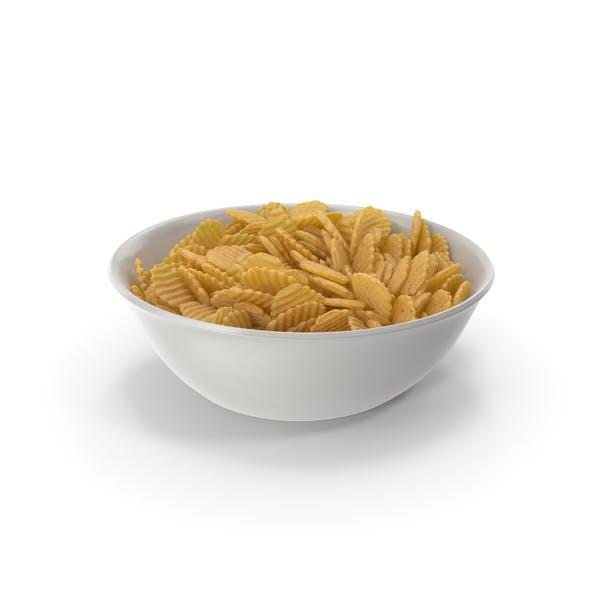 Thumbnail for Schüssel mit gewellten Kartoffelchips mit Crinkle-Schnitt