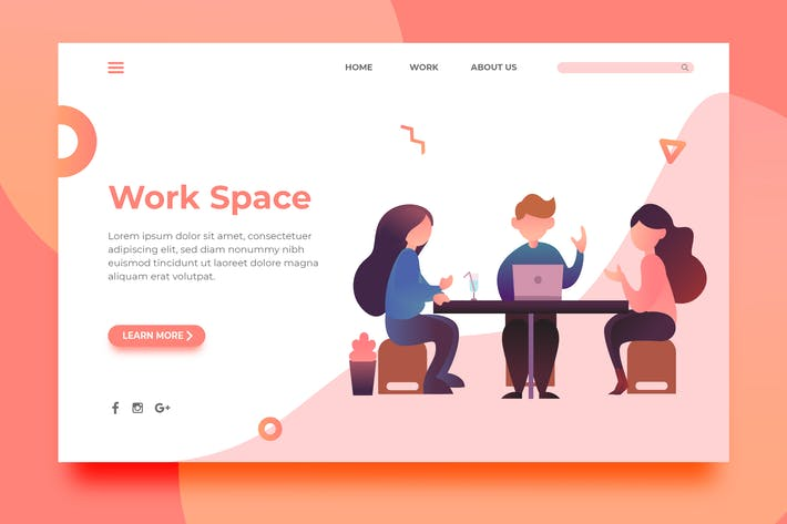 Thumbnail for Work Space - Landing Page