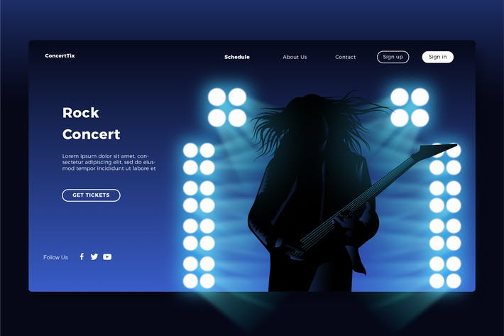 Thumbnail for Rock concert - Banner & Landing Page