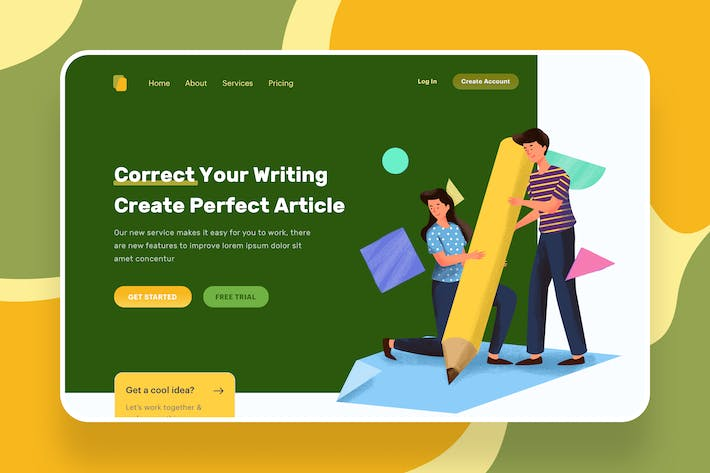 Thumbnail for Correct Your Writing Illustration - Website Header