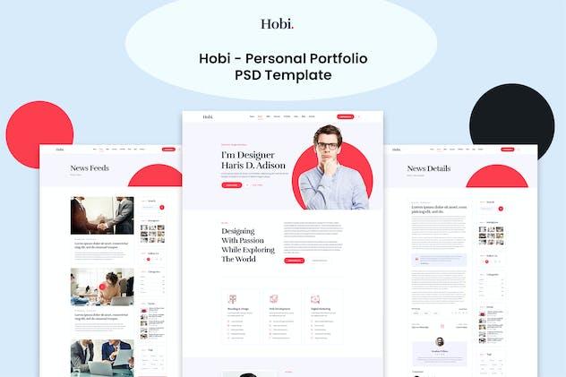 Hobi - Personal Portfolio PSD Template