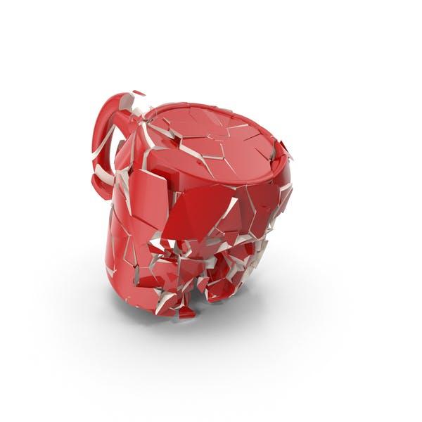 Taza Broken Rojo