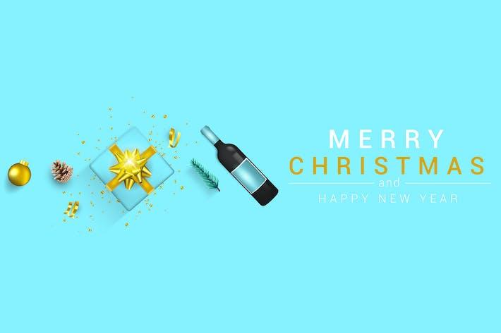 Thumbnail for Frohe Weihnachten und glückliches Neues Jahr Grußkarten