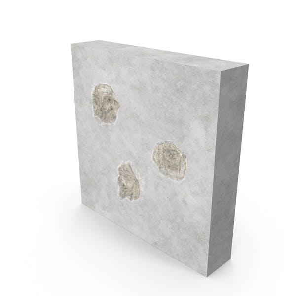 Пулевое отверстие влияет на бетон