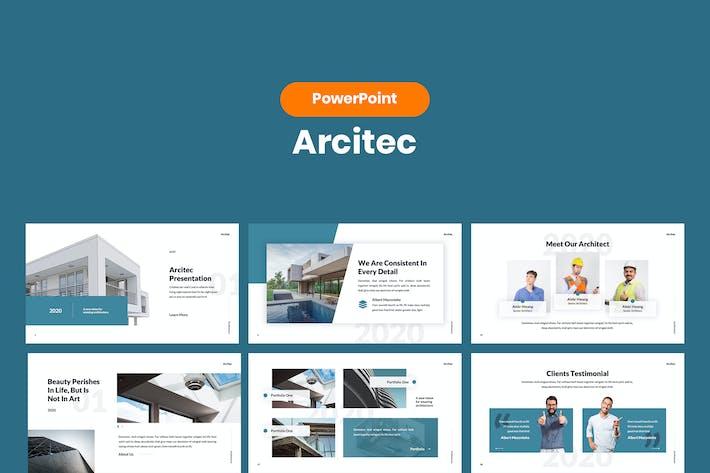 Arcitec - Архитектурный шаблон PowerPoint