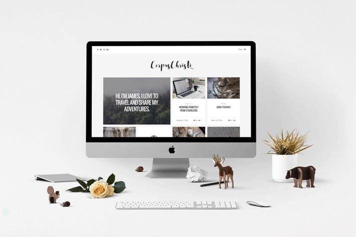 Cover Image For CorpusChristi – A Responsive HTML5 Blog Template
