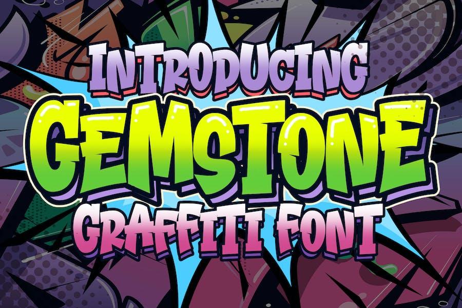Gemstone Graffiti Font