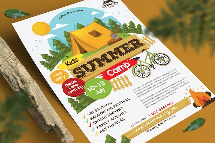 Thumbnail for Kids Summer Camp Flyer