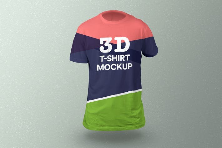 Thumbnail for 3D T-Shirt Mockup