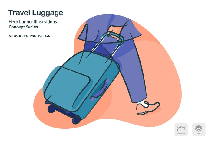 Thumbnail for Travel Luggage Vector Illustration