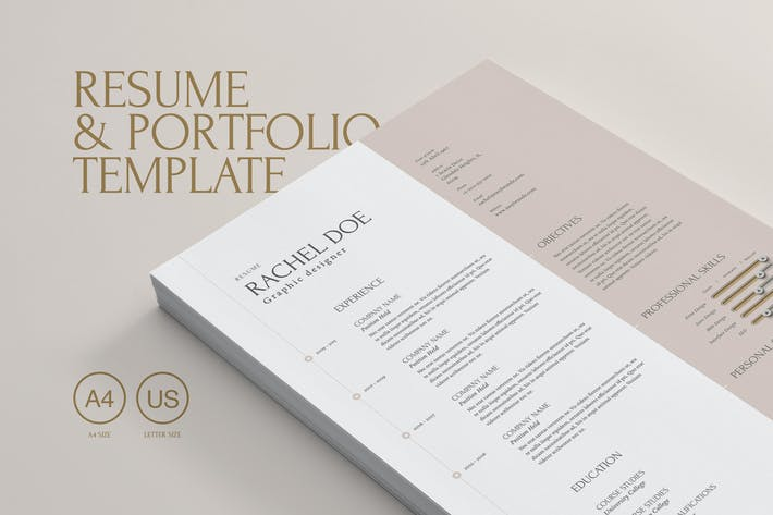 Thumbnail for Resume & Portfolio Template
