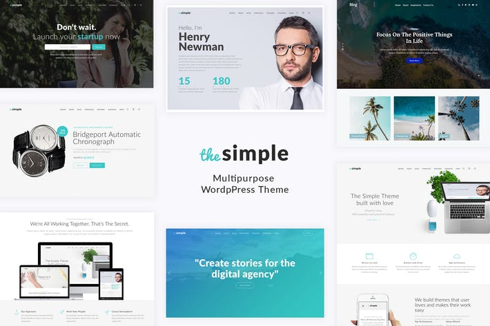 Thumbnail for Simple - Business WordPress Theme