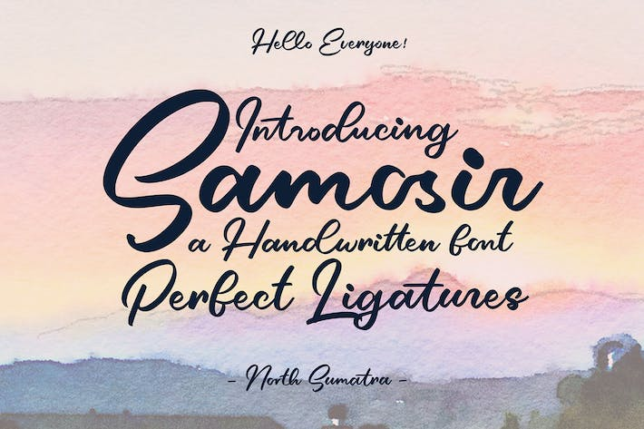 Cover Image For Samosir | Handwritten Font