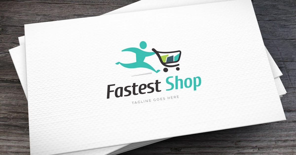 Download Fastest Shop Logo Template by empativo