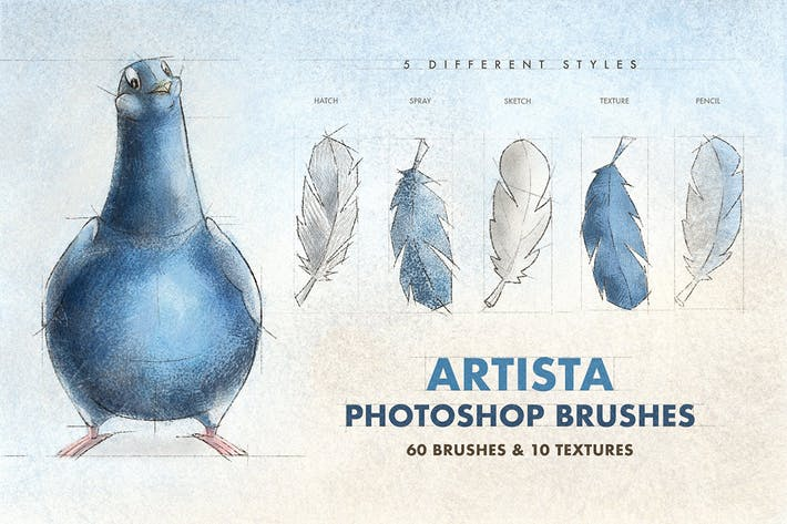 Cover Image For Artista Photoshop Brushes