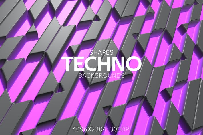 Thumbnail for Techno Shapes Backgrounds