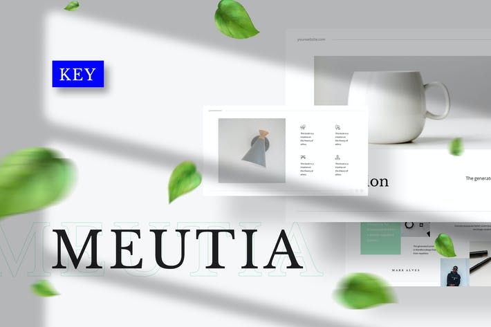 Thumbnail for Meutia - Minimalist Keynote Template