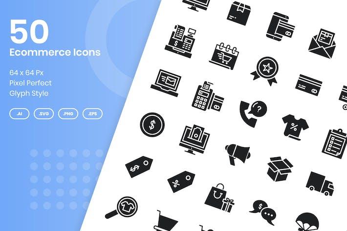 Thumbnail for 50 ИИконки для электронной коммерции - Глиф