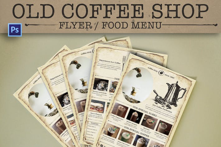 Cover Image For Old Coffee Shop Flyer
