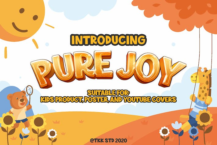 Thumbnail for Pure Joy - all cap happy font