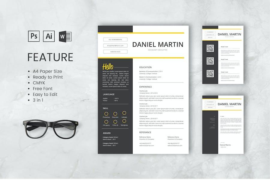 Modèle de CV professionnel et CV Martin