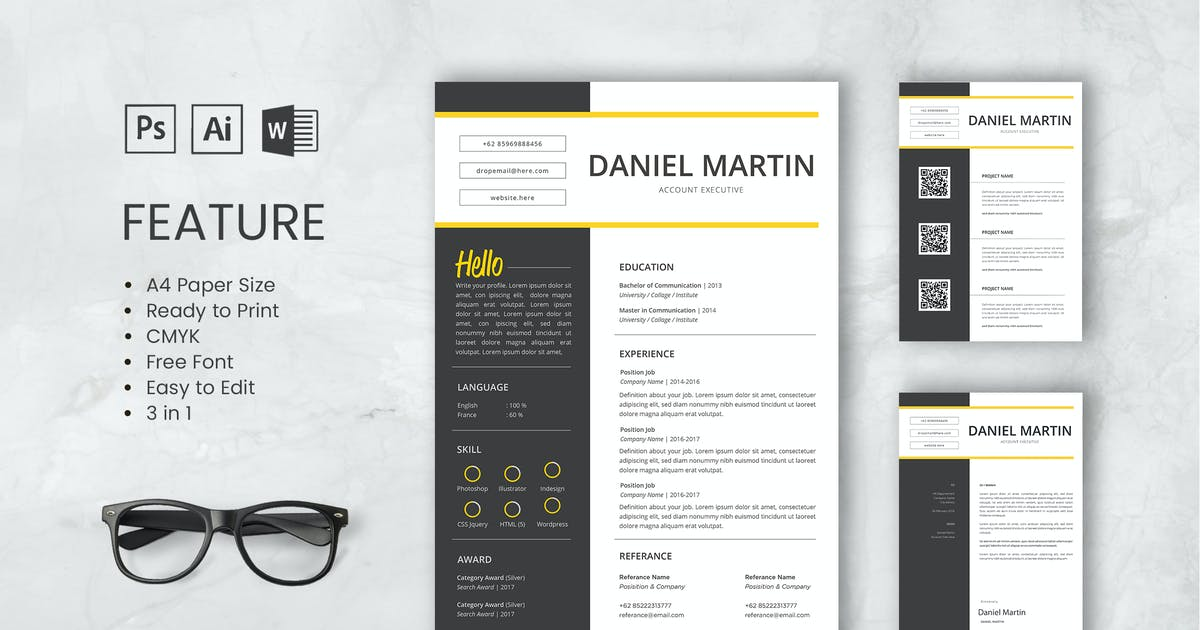Download Professional CV And Resume Template Martin by WPBootstrap