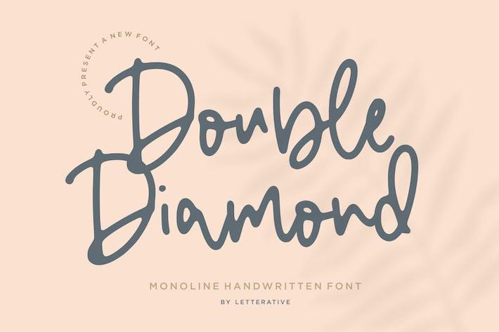 Tipo de letra de doble diamante YH