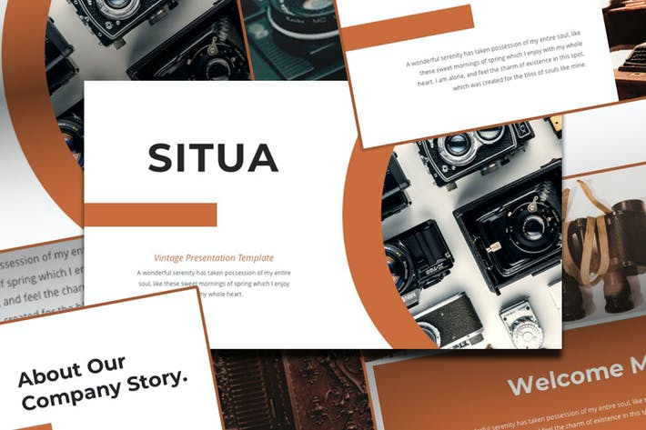 Thumbnail for Situa – Vintage Creative PowerPoint Template