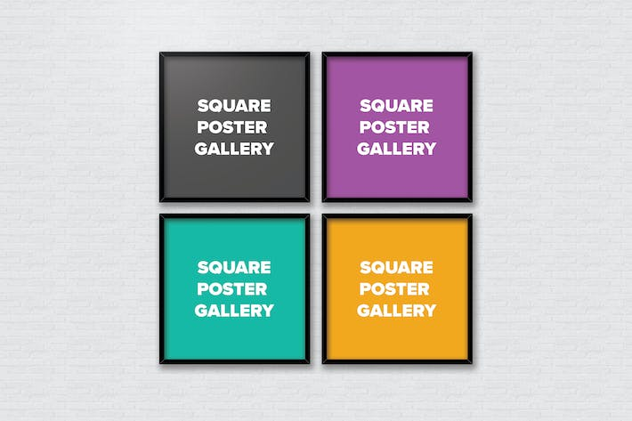 Thumbnail for Poster Frame Mockups - Square Gallery