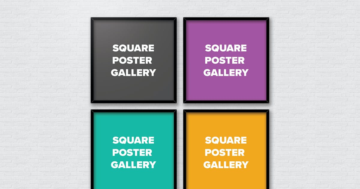 Download Poster Frame Mockups - Square Gallery by MJGDesigns