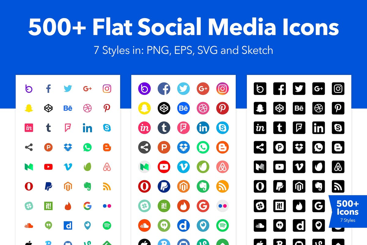 Download 500+ Social Media Icons by CreativesCastle by Unknow