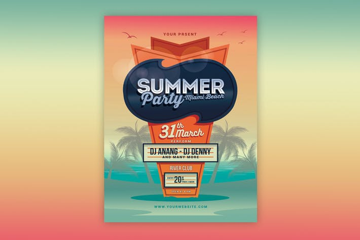 Thumbnail for Sommer Beach Party Flyer