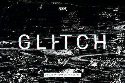 Glitch | Intense Backgrounds | Vol. 01