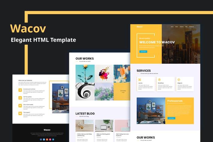 Thumbnail for Wacov - Elegant HTML Template