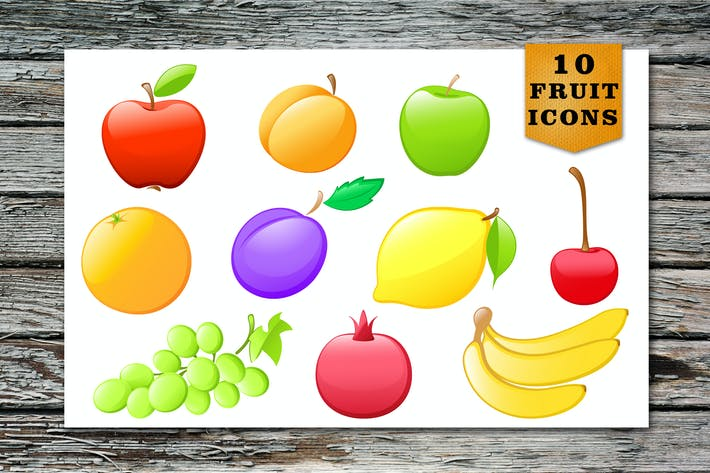 Thumbnail for Glossy Fruit Icons