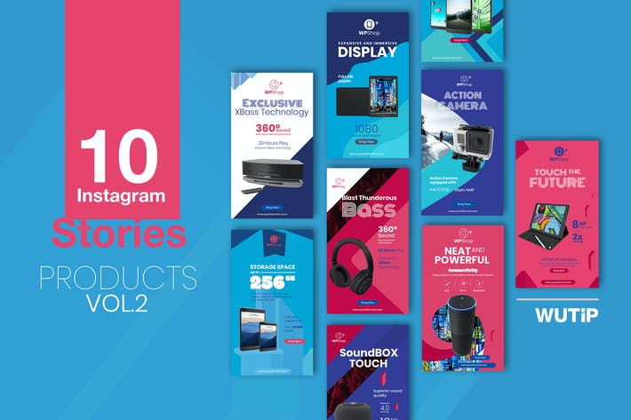 Thumbnail for 10 Instagram Stories-Products vol2