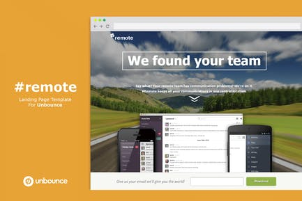 Remote | Unbounce Landing Page with Video Header