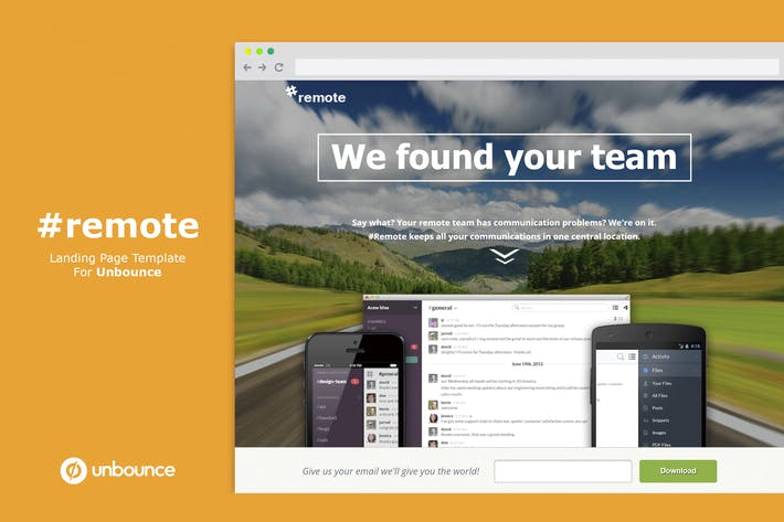 Thumbnail for Remote | Unbounce Landing Page with Video Header