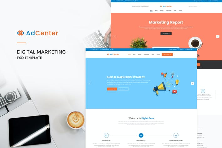 Thumbnail for Adcenter - Digital Marketing PSD Template