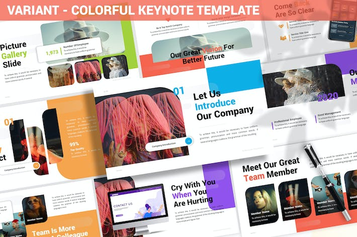 Thumbnail for Variant - Colorful Keynote Template