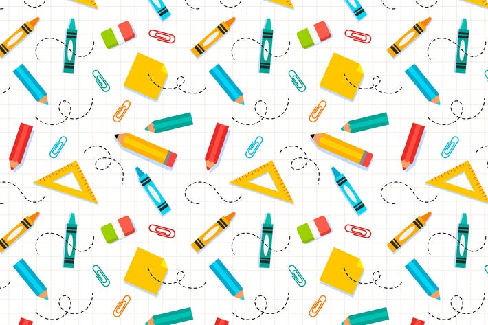 Thumbnail for School Supplies Pattern