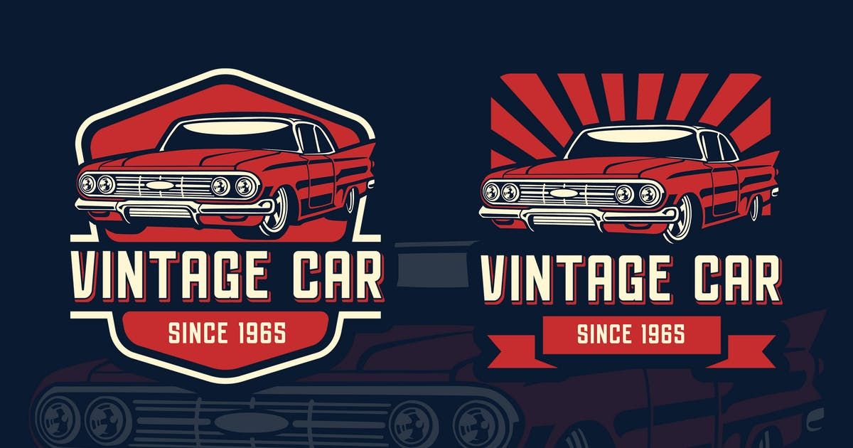 Download Vintage Car Retro Logo Tempalate by Blankids