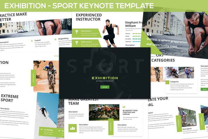 Thumbnail for Exhibition - Sport Keynote Template