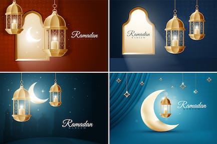Arrière-plans du Ramadan islamique