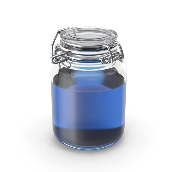 Thumbnail for Glass Jar with Blue Liquid